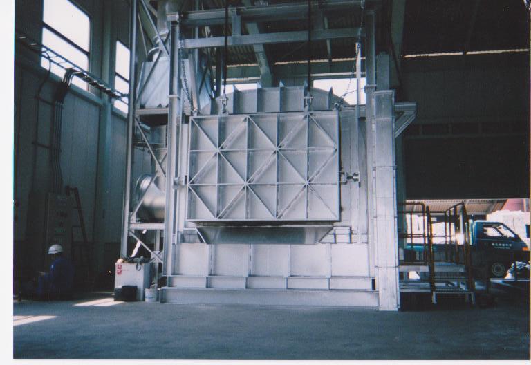 アルミ溶解反射炉