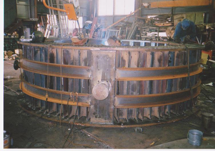 大型梵鐘鋳造用型枠