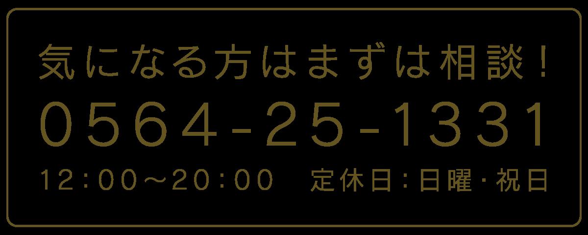 TEL 0564-25-1331 12:00~20:00 定休日:日曜、祝日