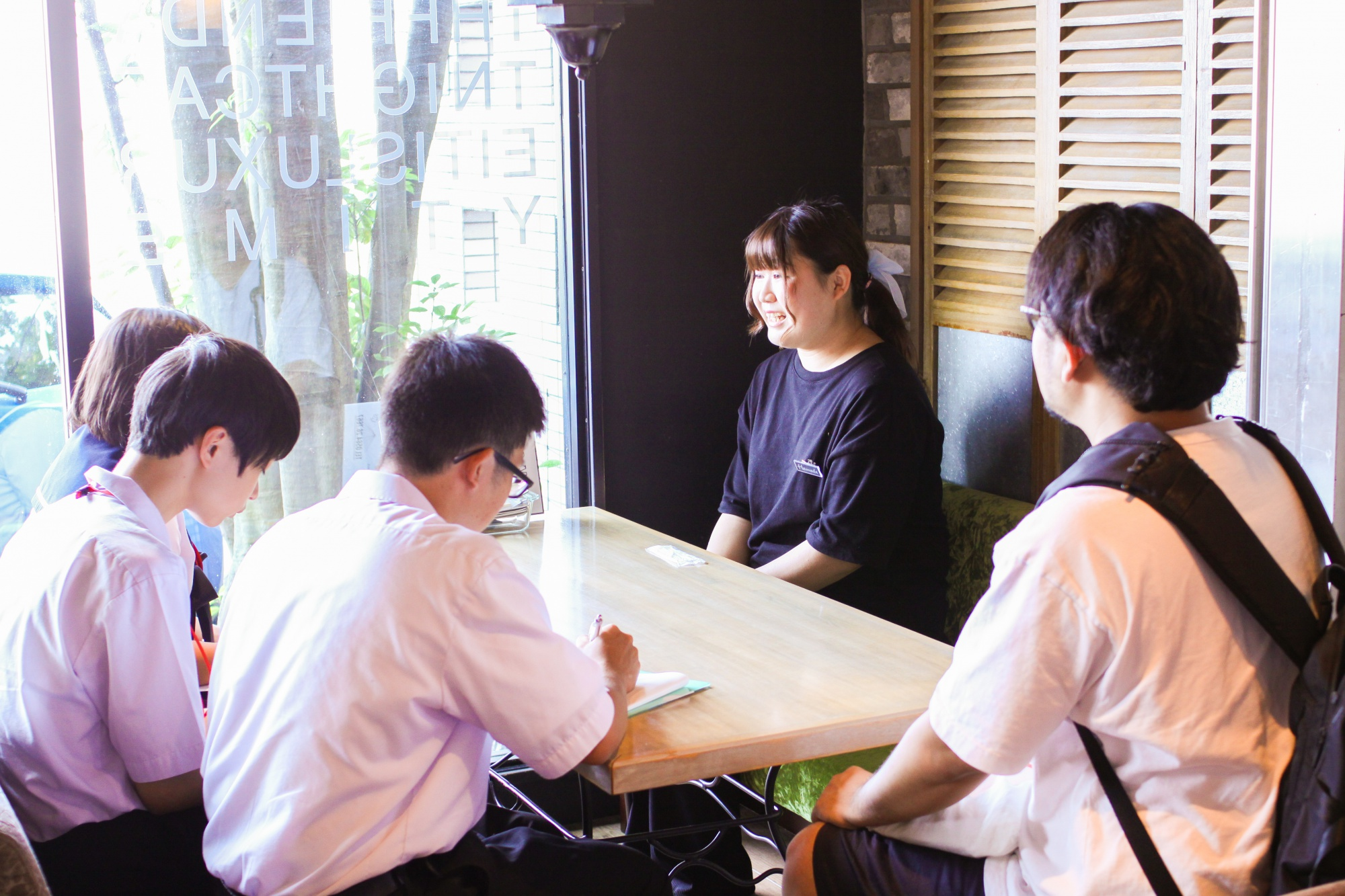 VIVA cafe'sta濱田さん、インタビュー体験☆